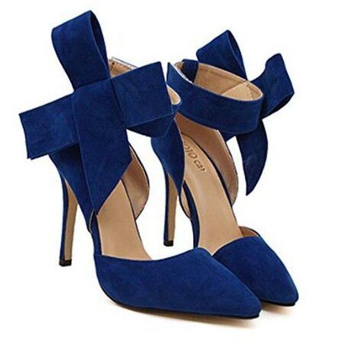 Übergröße Bogen Hochzeit Schuhe Blau