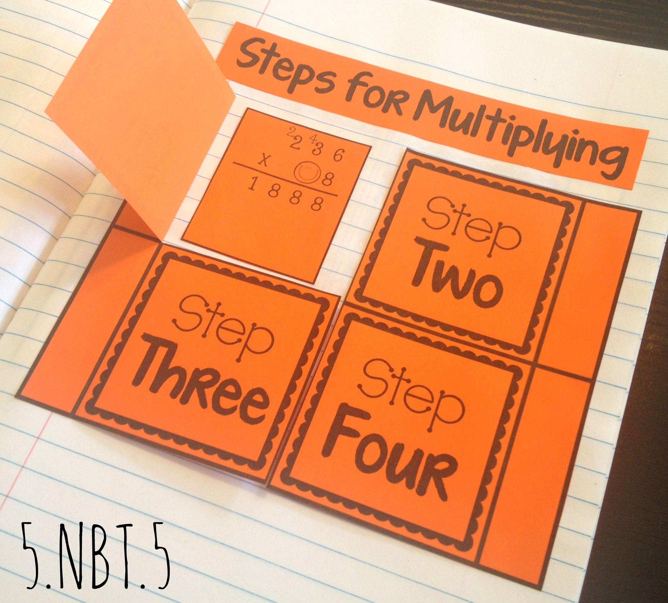5 Nbt 5 Interactive Notebook