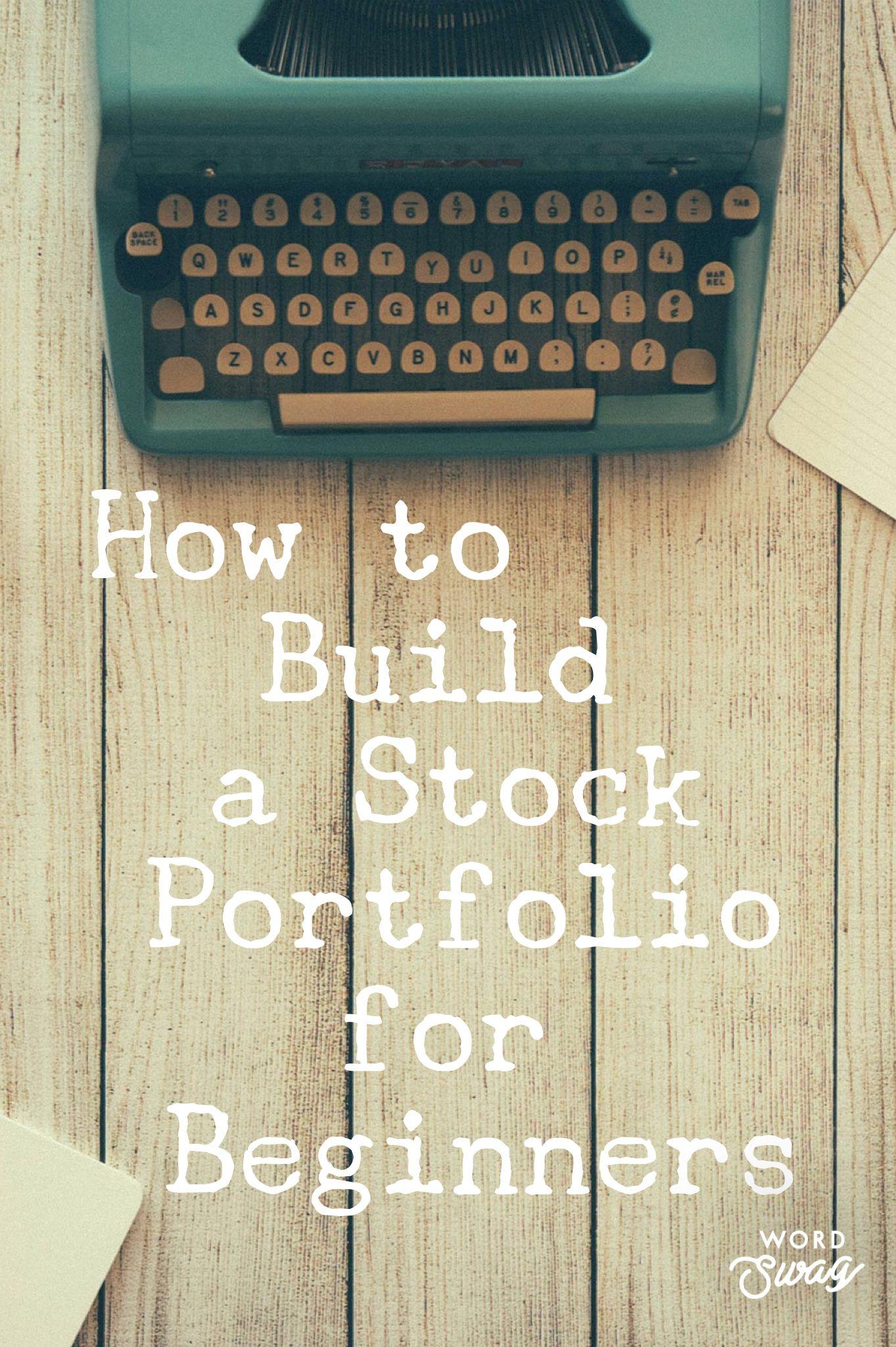How to Build a Stock Portfolio for Beginners #stockportfolio