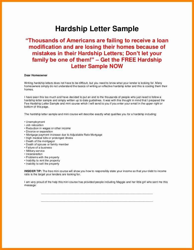 Loan Modification Hardship Letter Template In 2020 Letter Sample
