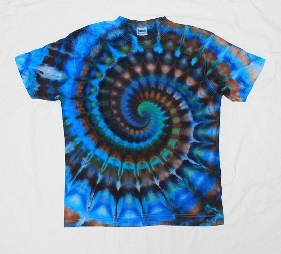 Tie Dye Rainbow Spiral Psychedelic Swirl T-shirt XL saYXb1Vau