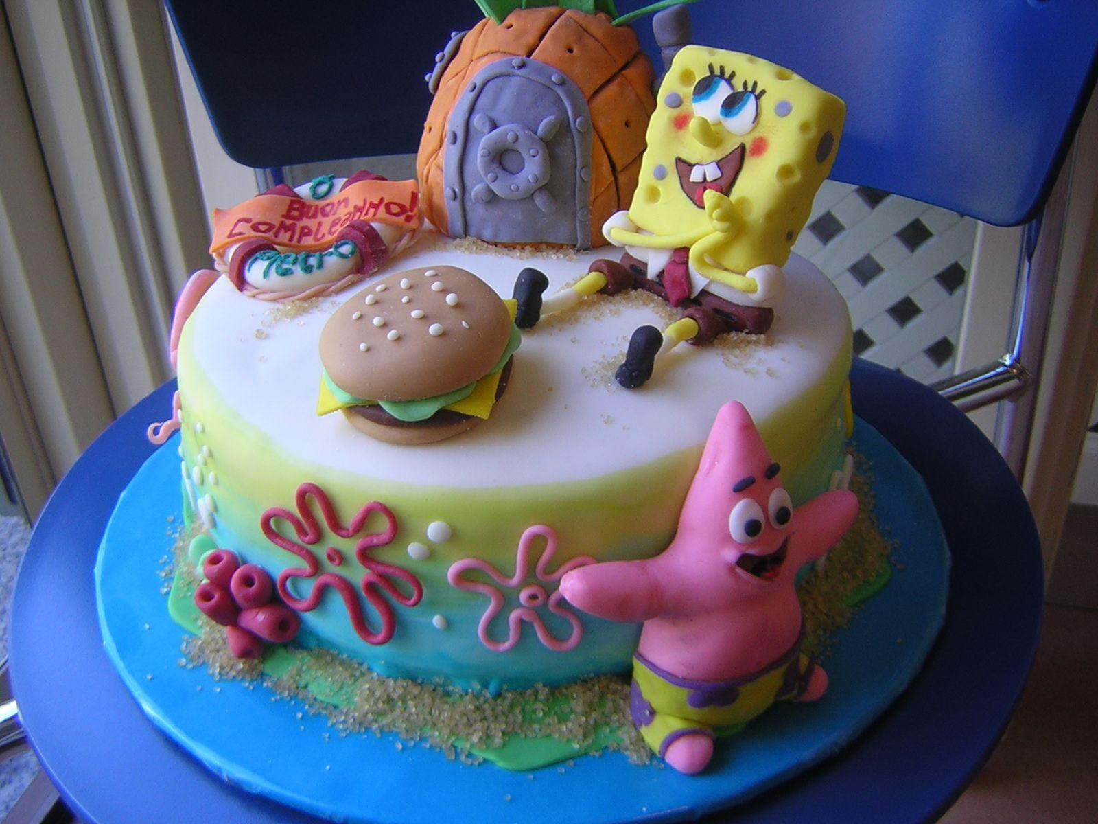 le torte creative di claudia prati torta sponge bob. Black Bedroom Furniture Sets. Home Design Ideas