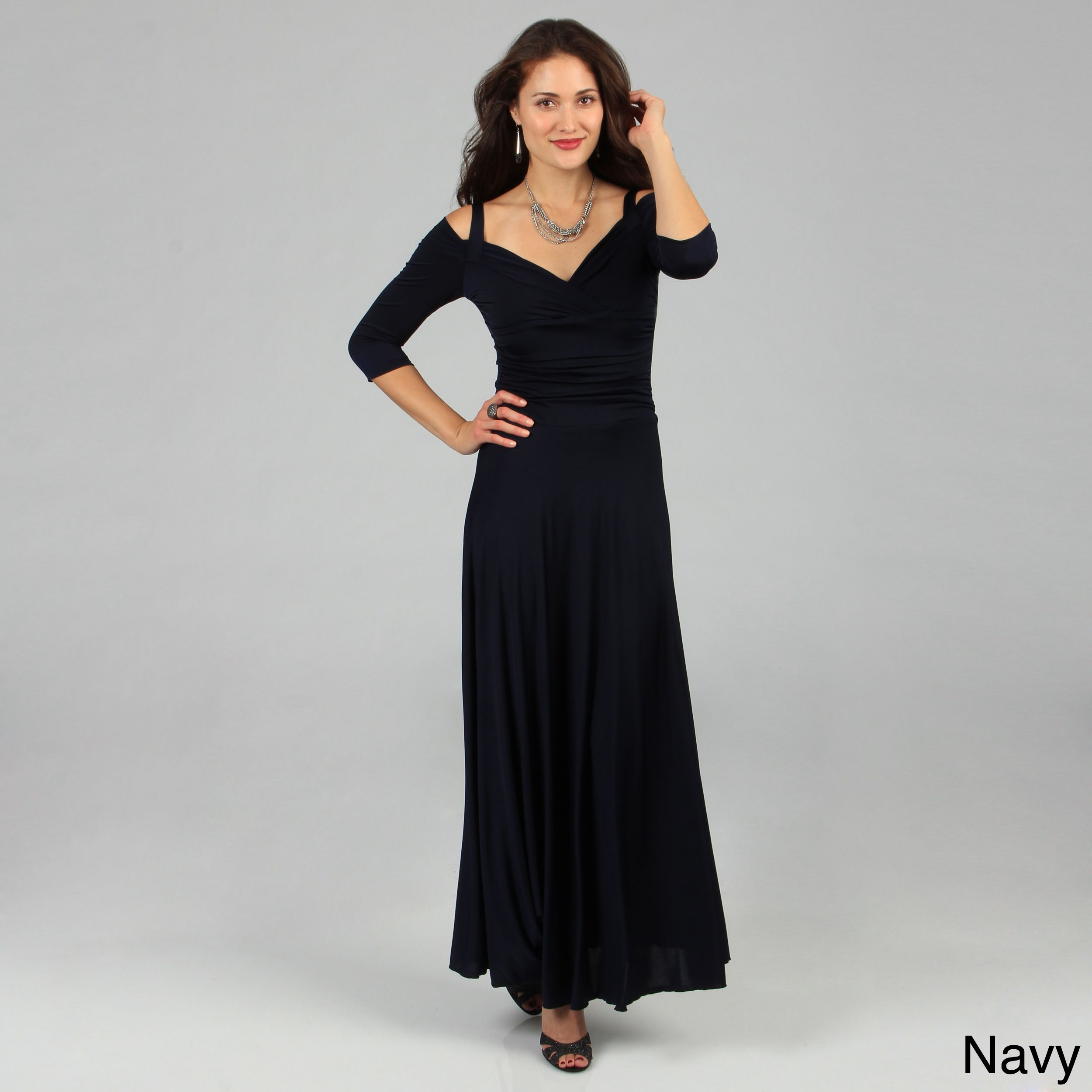 Evanese womenus elegant long dress by evanese sexy draping and