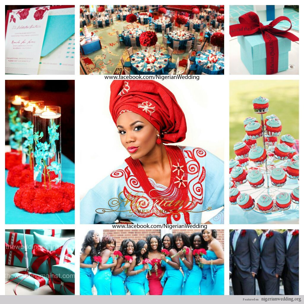 nigerian wedding Tiffany blue and red wedding color scheme 1 | aqua ...