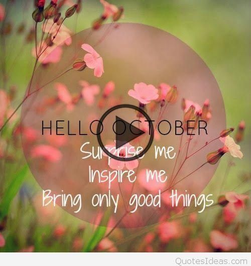 Hello October Quotes on Pinterest #hellooctober Hello October Quotes on Pinterest