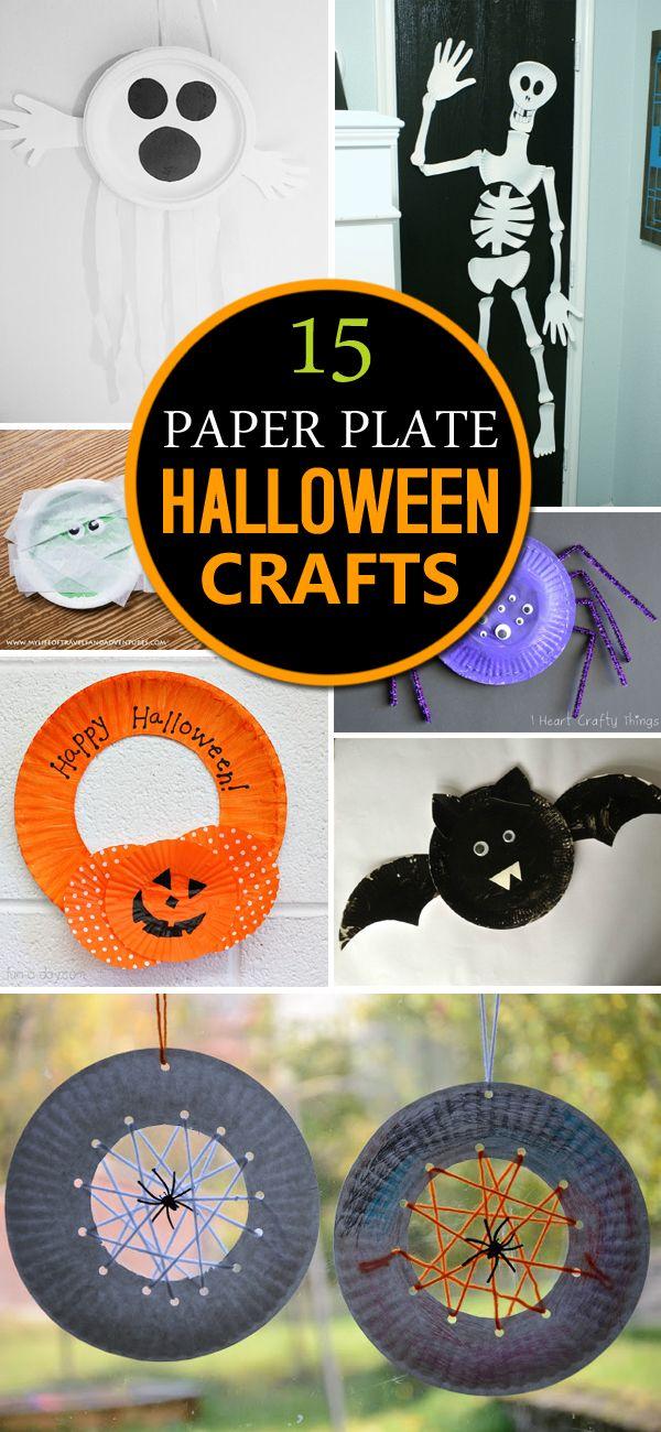 15 Paper Plate Halloween Crafts Halloween Arts Crafts