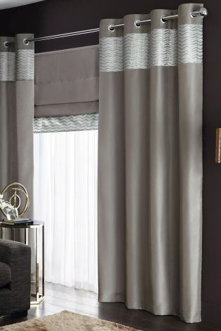 Buy Metallic Shimmer Eyelet Curtains From The Next UK Online Shop