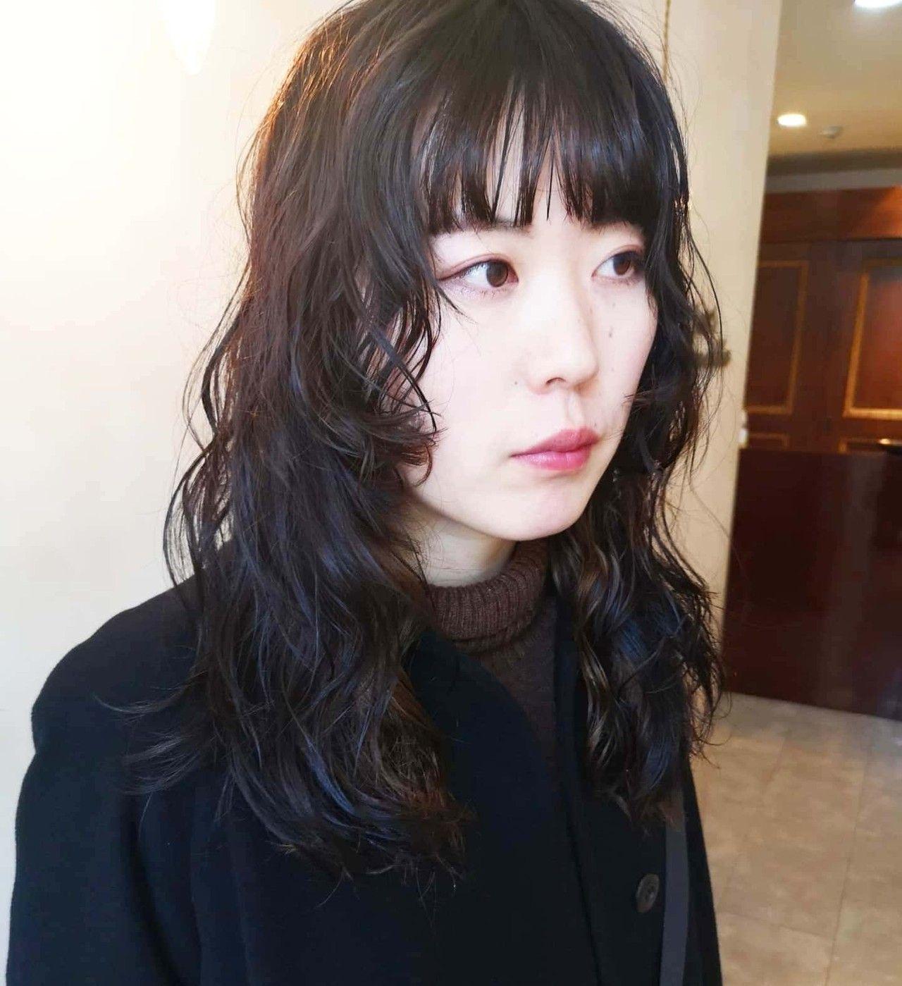ウルフパーマ セミロング ウルフ ウルフカット Hair S Lunetta 心斎橋 Yusuke Matsumoto 544397 Hair セミロング パーマ ロングウルフ ウルフ カット
