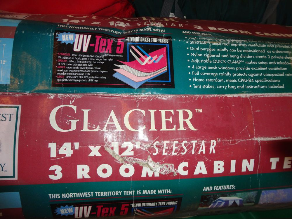 Northwest Territory Seestar 3 Room Cabin Tent 14u0027 x 12u0027 UV-Tex 5 & Northwest Territory Seestar 3 Room Cabin Tent 14u0027 x 12u0027 UV-Tex 5 ...