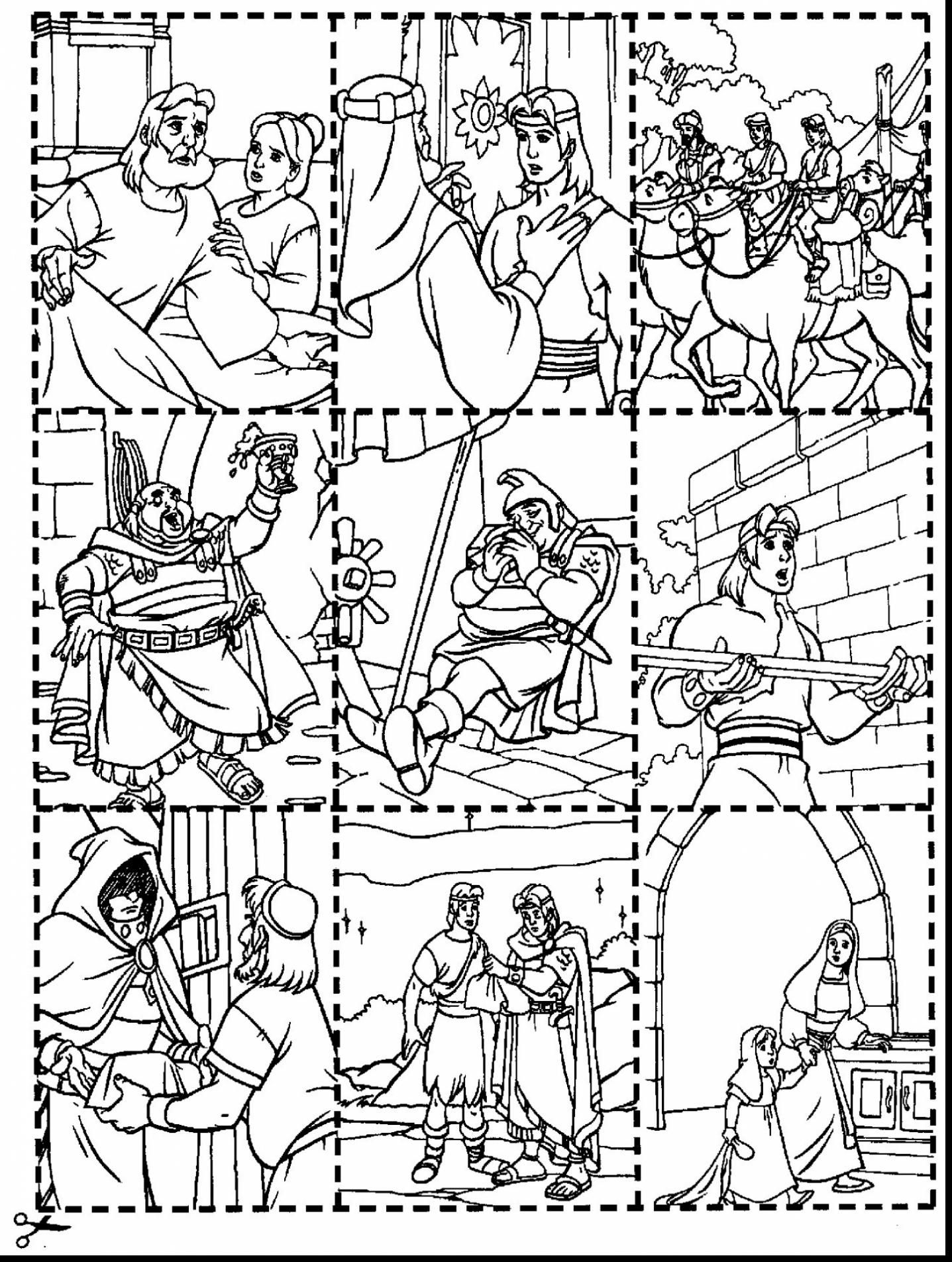 Good Lds Nephi And The Brass Plates Coloring Pages With Book Of