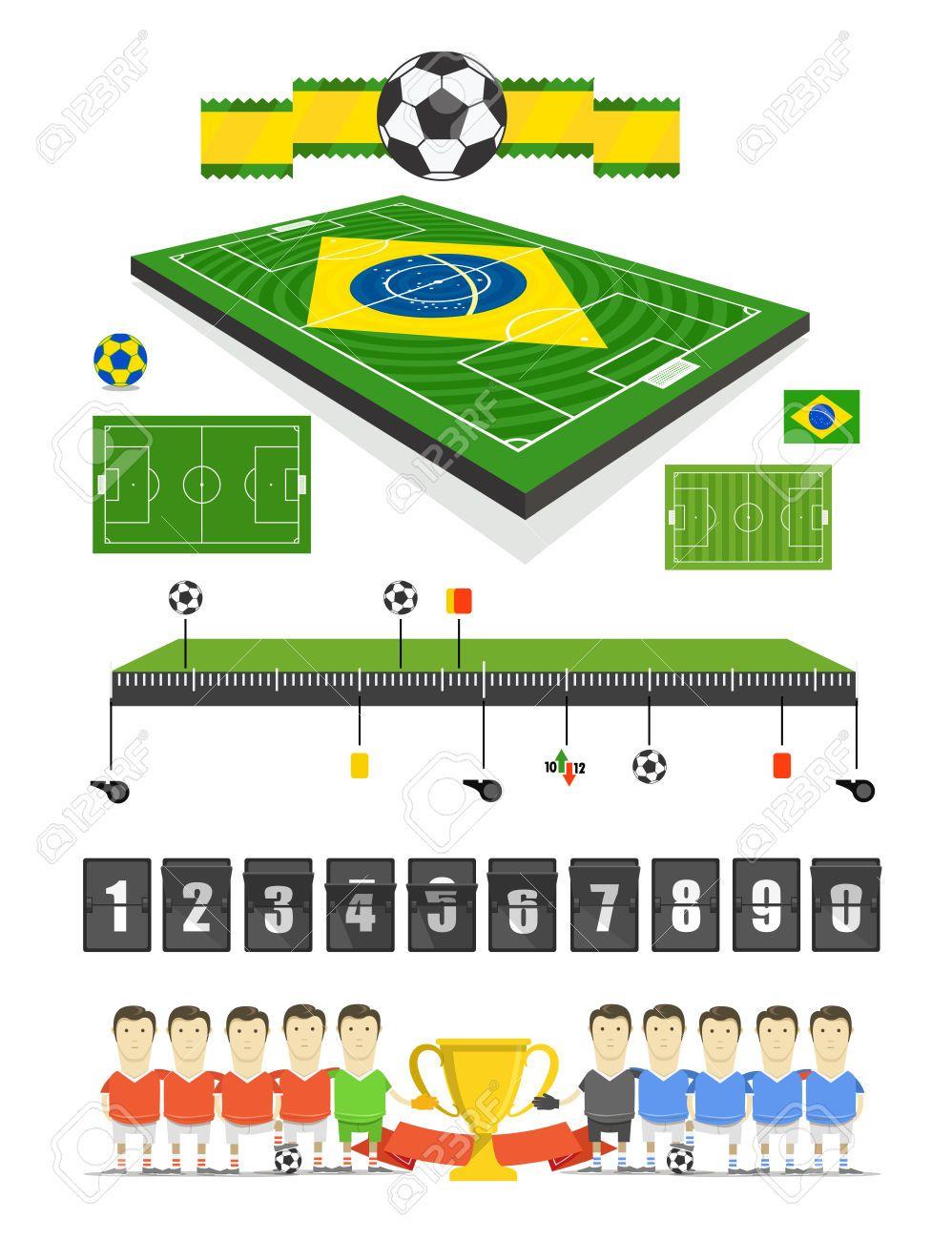 Brazil Soccer Match Infographic Elements Soccer Match Infographic Soccer