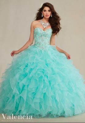 Opciones De Vestidos De 15 Años Azul Turquesa Dayana