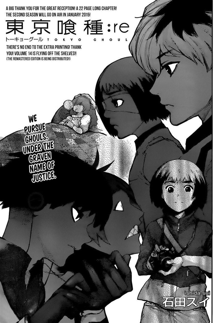 Resultado de imagen de tokyo ghoul re manga