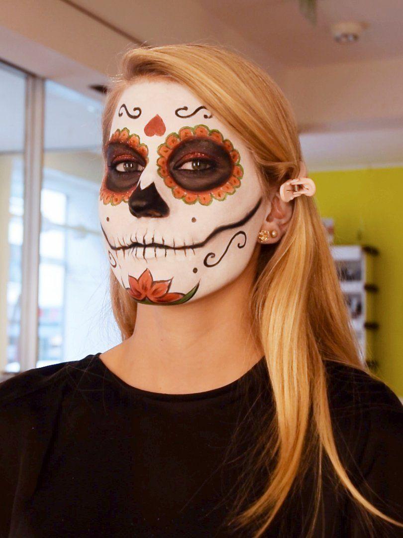 Totenmaske Schminken Grundierung Halloween Schminken Kinder