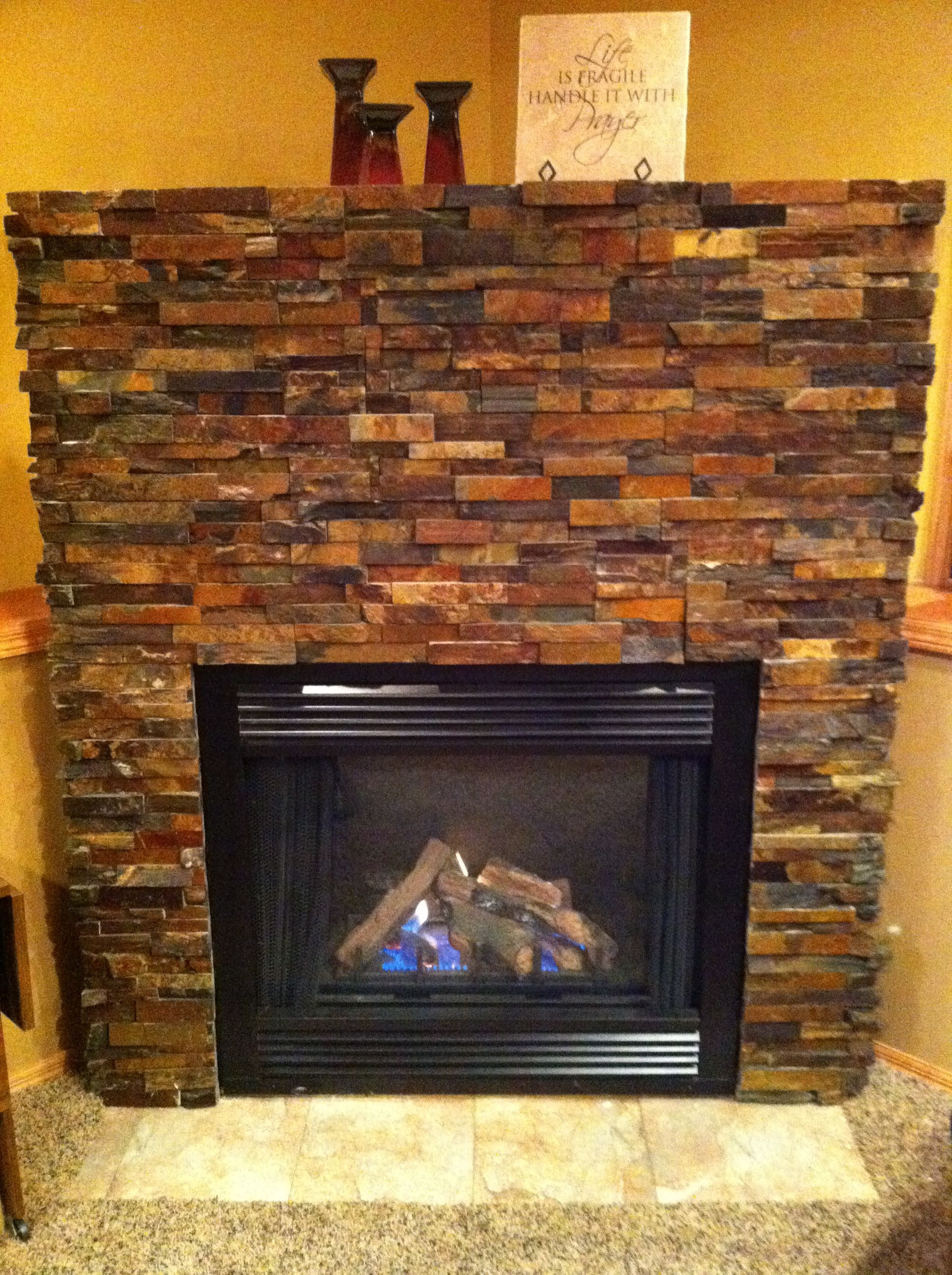 Bricking this fireplace was actually a fun home DIY Home do it