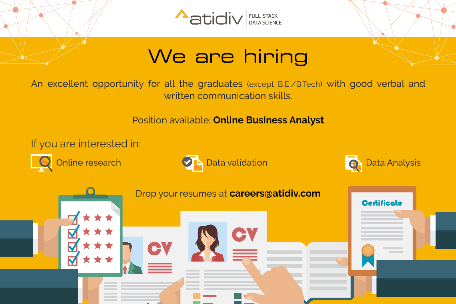 Atidiv is a provider of data science, product development