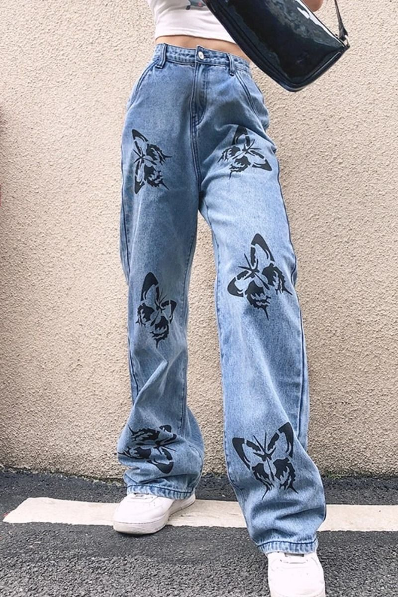 Madison Butterfly Loose Flare Jeans