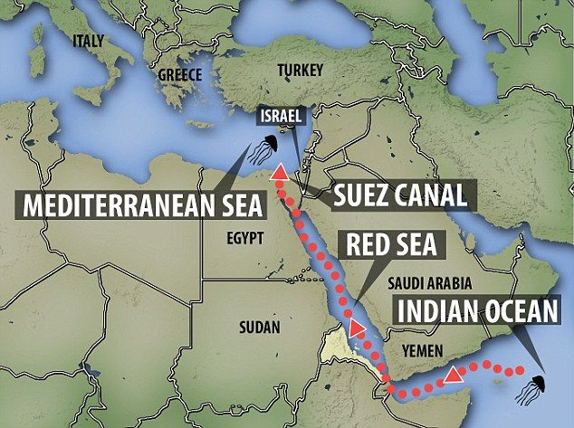 Suez Canal On Africa Map.Image Result For Suez Canal Suez Canal In 2019 Pinterest