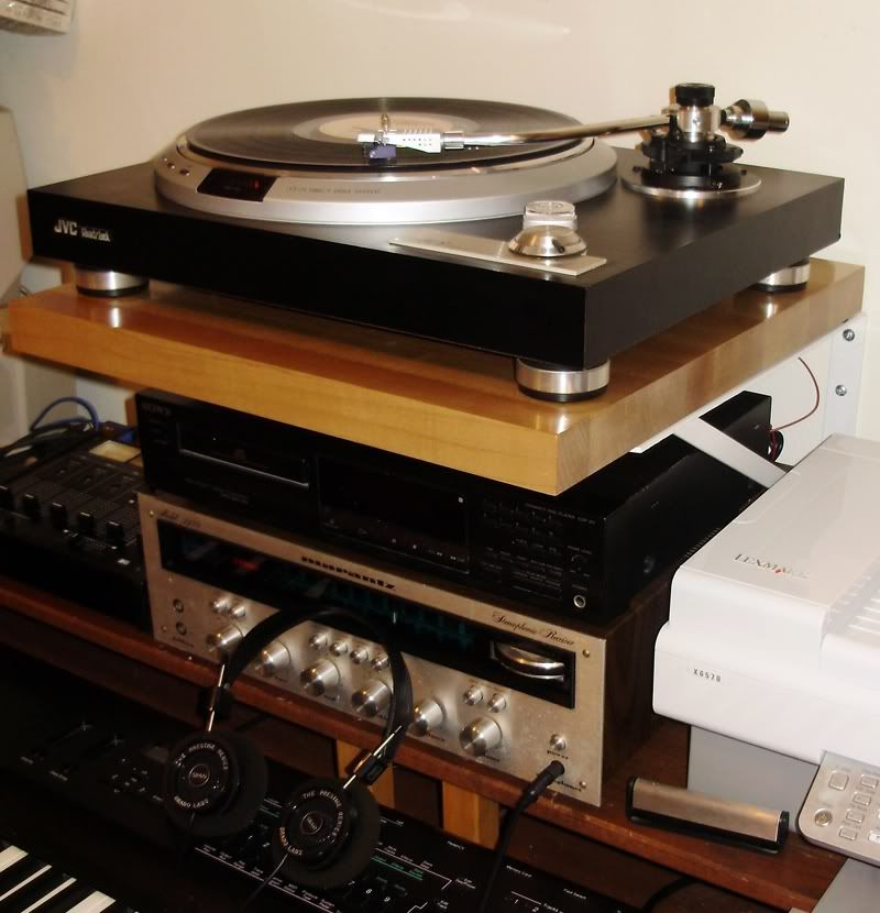 DIY 35 Turntable Shelf Home Audio Stereo