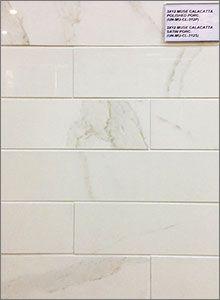 Muse Calacatta Polished & Satin Porcelain Backsplash Tiles | Update ...