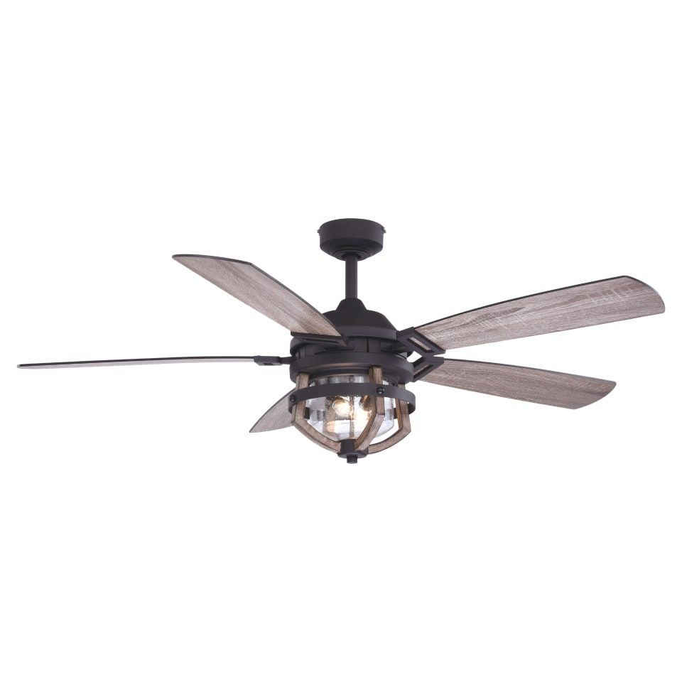 Bellevue Vxcfa91164mbkro 54 5 Blade Led Outdoor Build Com In 2021 Outdoor Ceiling Fans Ceiling Fan Ceiling Fan With Light