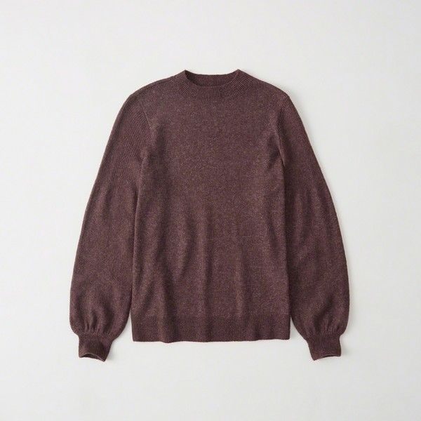 Abercrombie   Fitch Puff Sleeve Sweater ( 47) ❤ liked on Polyvore featuring  tops 31c91ab37f8a1