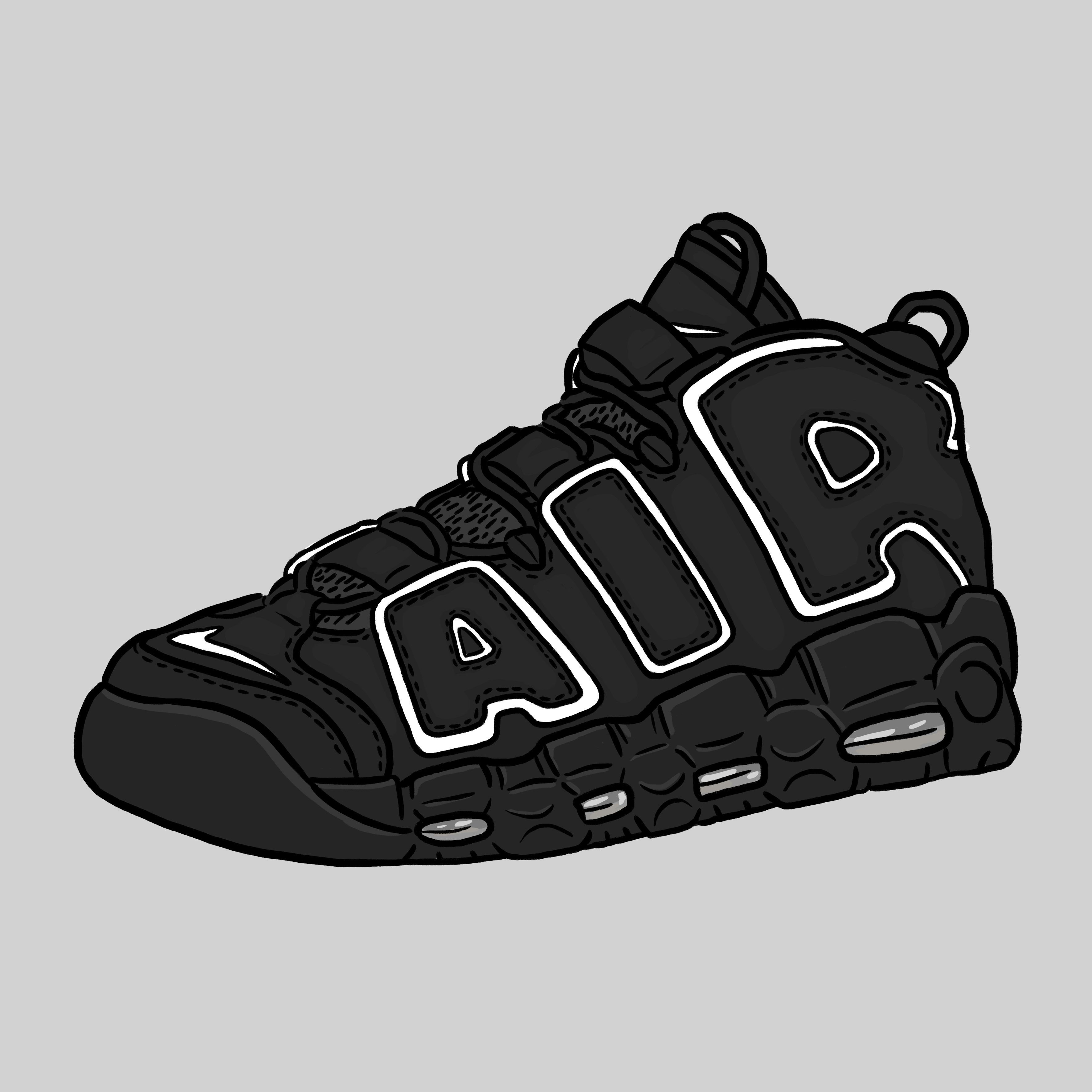 Nike Air More Uptempo OG #daleillustration sneaker art
