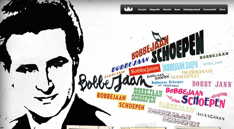 Bobbejaan website: landing page