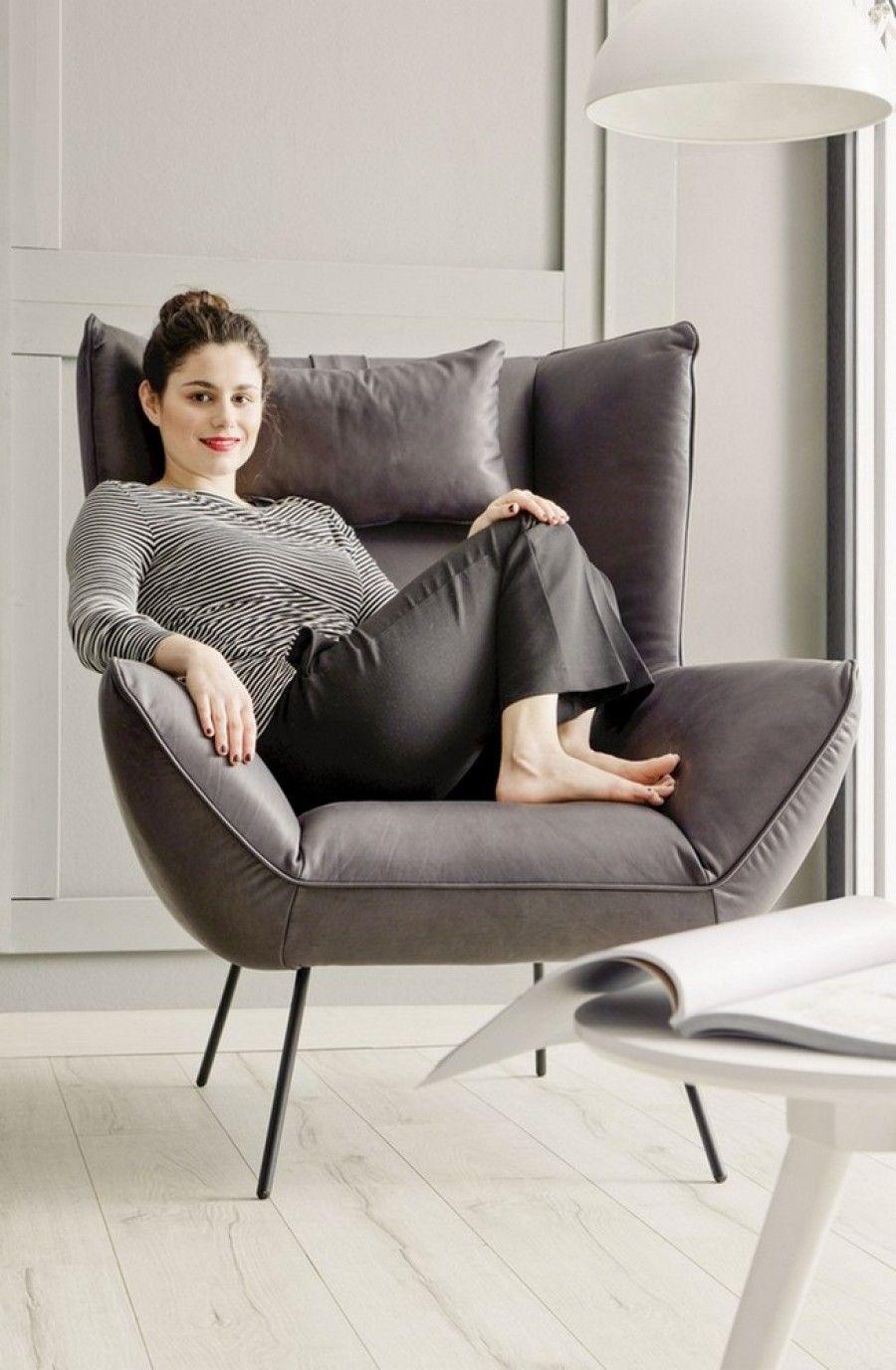 evy hochlehner sessel samt stone | lounge sessel, wohnzimmer