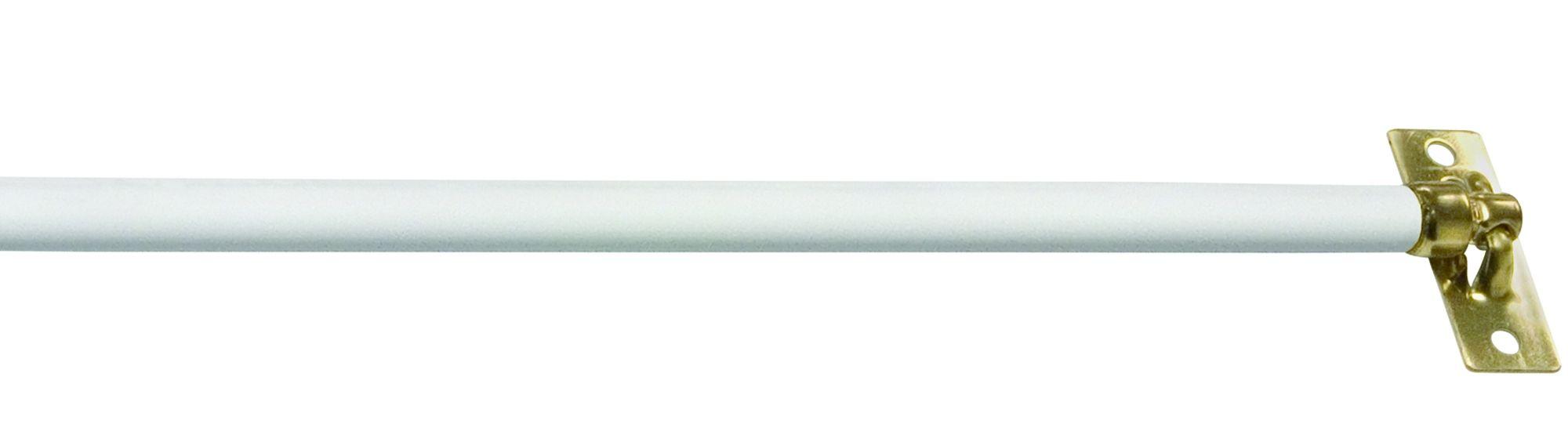 Kenney Mfg 5 16 Inch Swivel End White Sash Curtain Rod Curtain