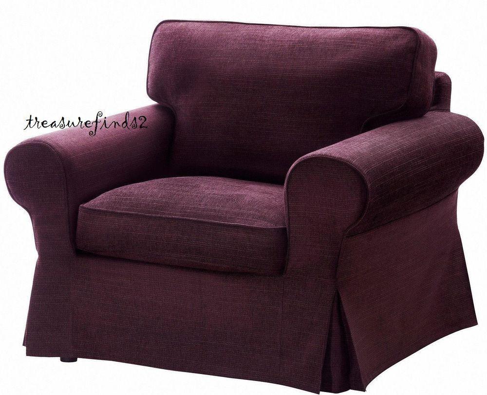 Ikea Cover Ektorp Chair Slipcover Tullinge Lilac New