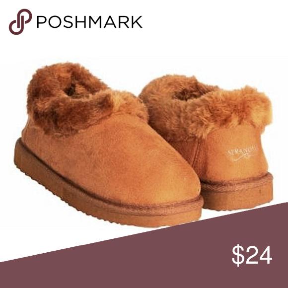 2e81ea60b85 SERANOMA Womens Faux Fur House Boot Slippers SERANOMA Womens Boot Slippers  Warm Faux Fur Winter House