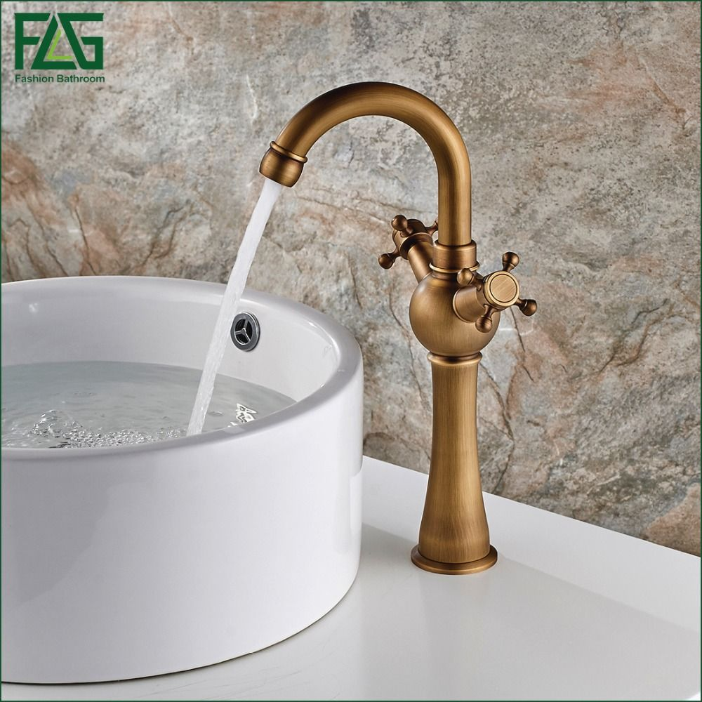 European Nordic Retro Basin Faucet 100% Copper Retro Antique ...