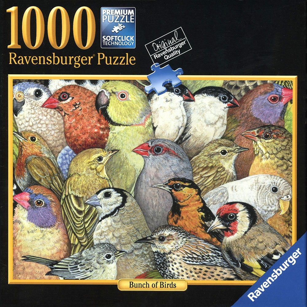 Ravensburger 1000 Piece Premium Jigsaw Puzzle Bunch Of Birds
