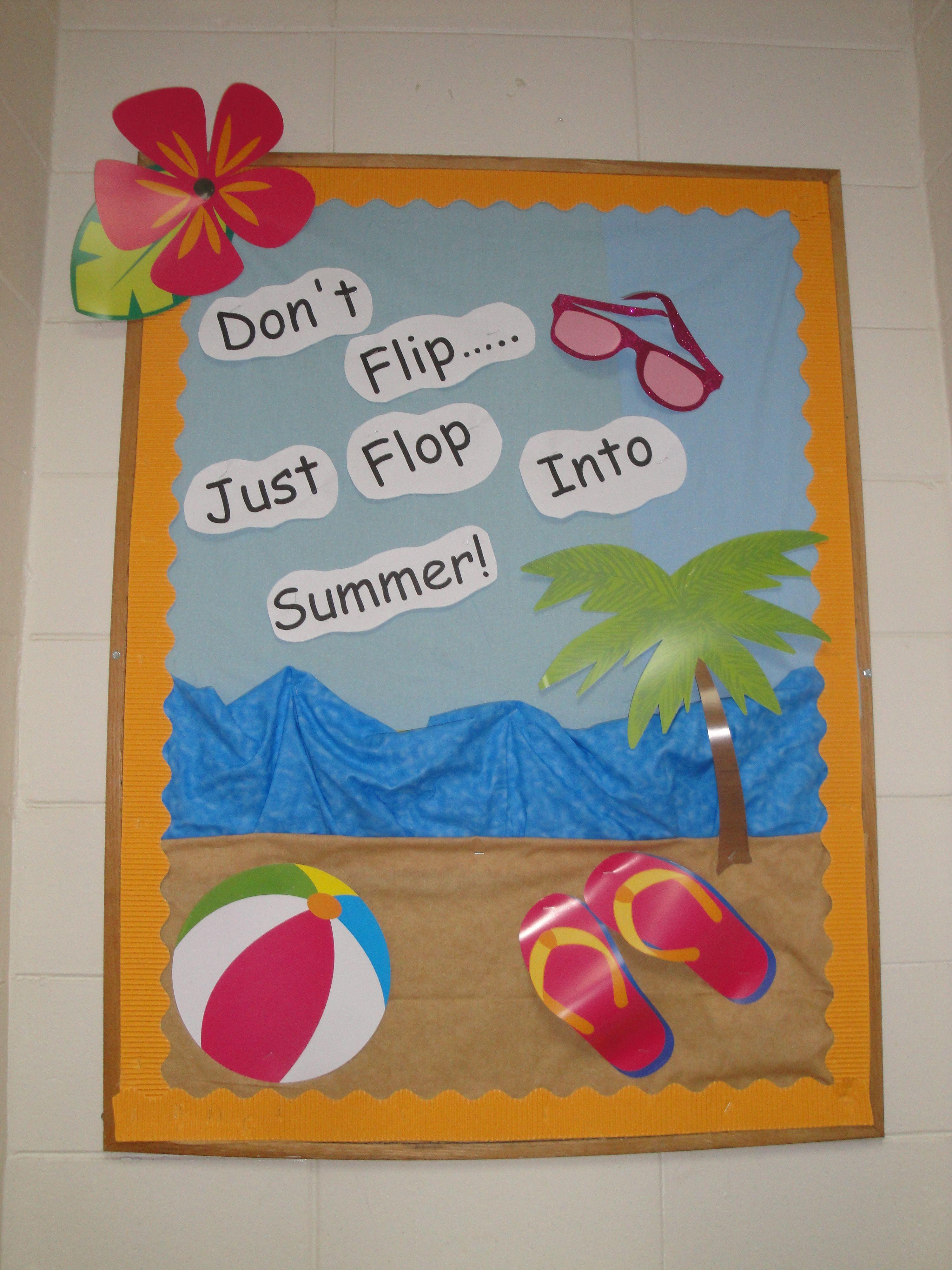 T Murphy Summer Time Theme Summer Bulletin Boards Bulletin