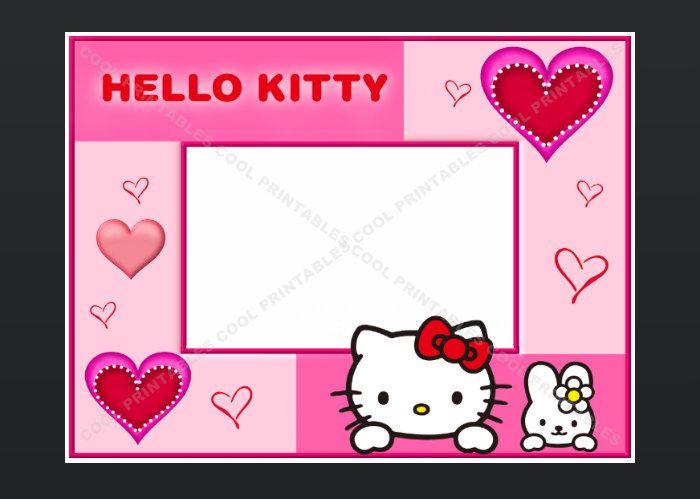birthday invitation hello kitty blank