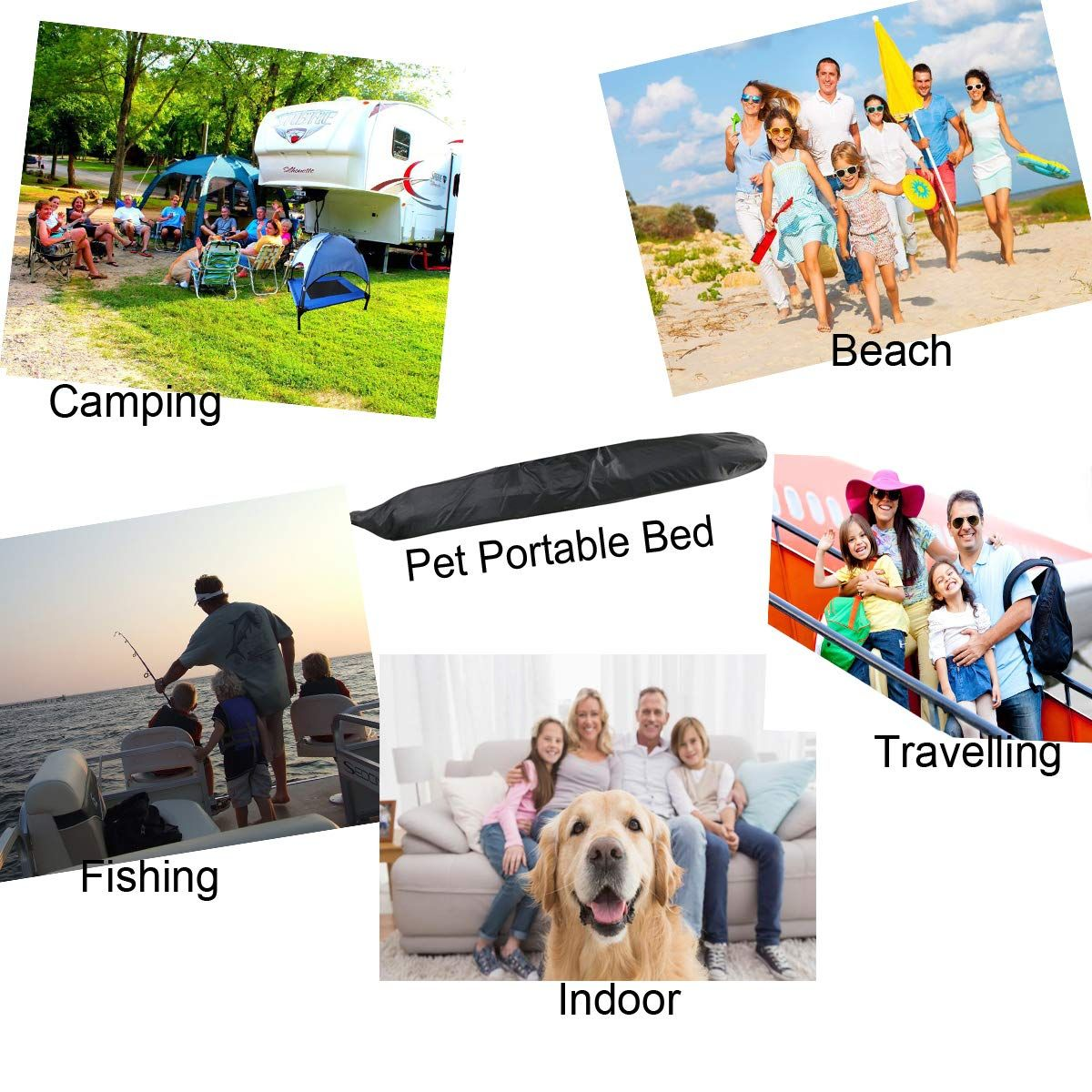 JANMO Pet Bed Dog Foldable Indoor and Outdoor Cot Tent