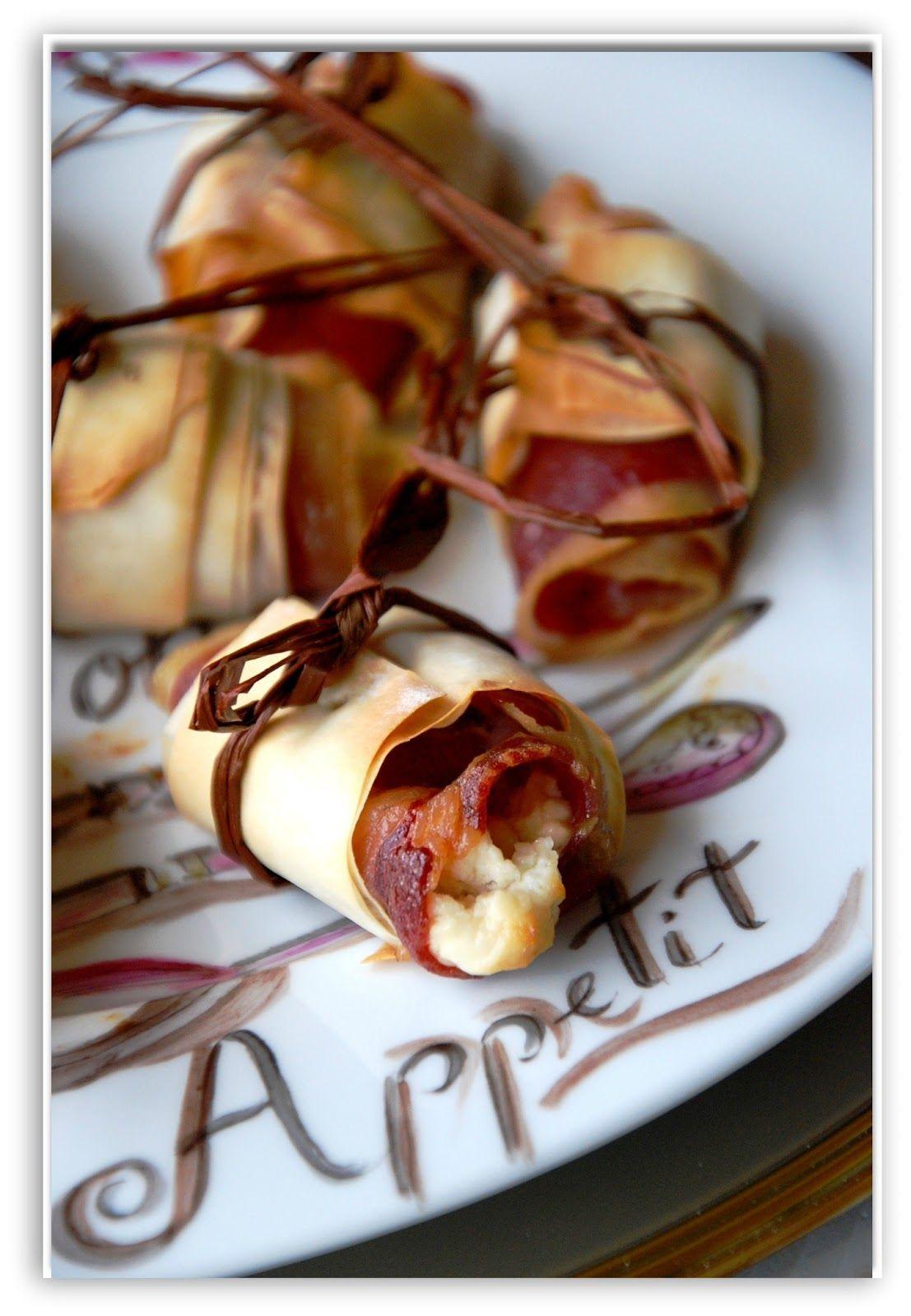 Rollitos crujientes de jam n ib rico rellenos de queso - Comida para navidad facil ...