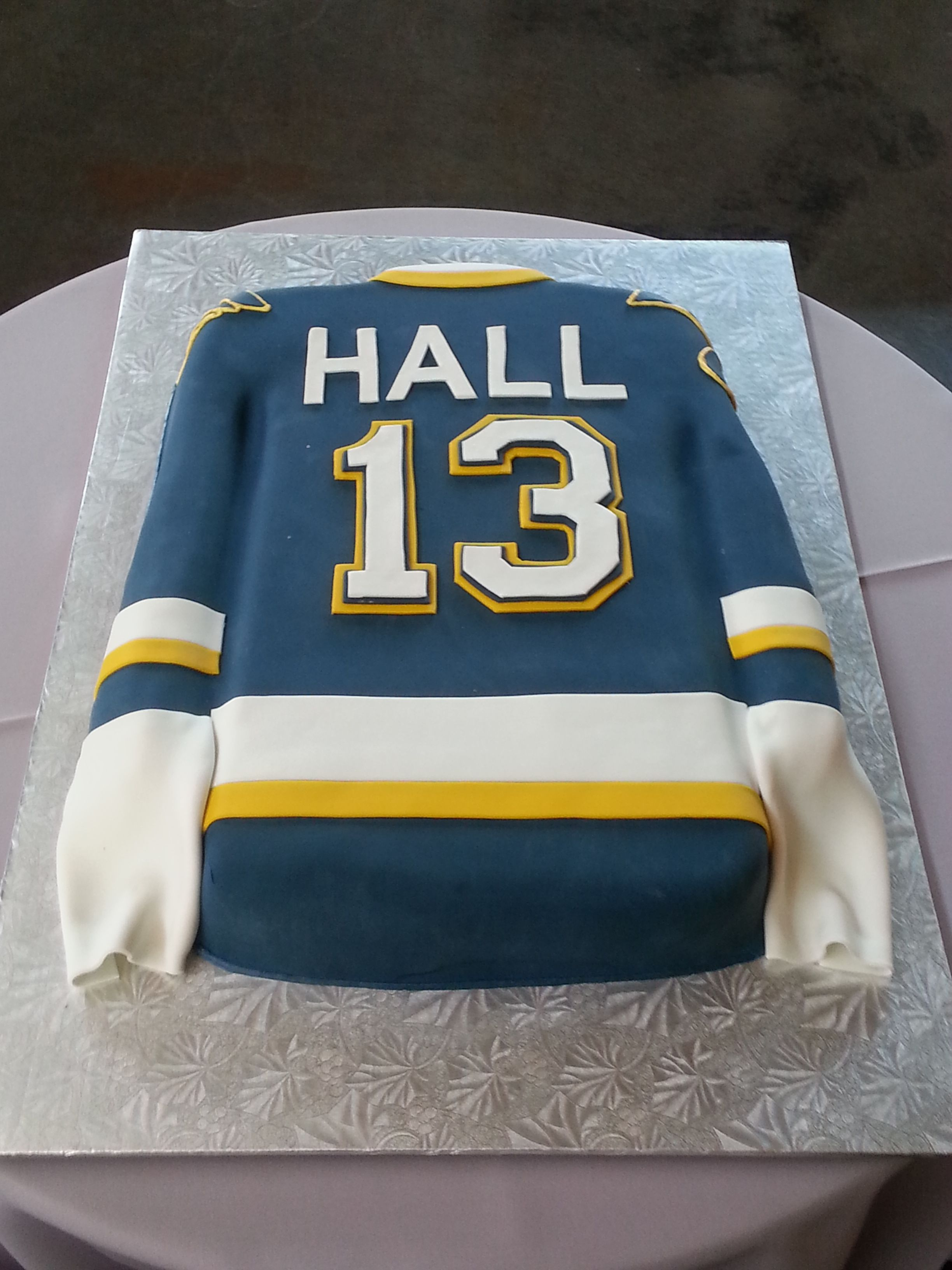 Outstanding Fondant St Louis Blues Jersey With Images Blue Birthday Personalised Birthday Cards Arneslily Jamesorg