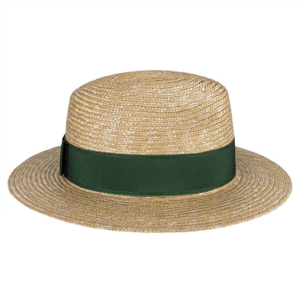 82db919d0c71de Salzburger Heimatwerk - Trachten-Hut aus Stroh für Herren mit Ripsband in  flaschengrün. Dieser