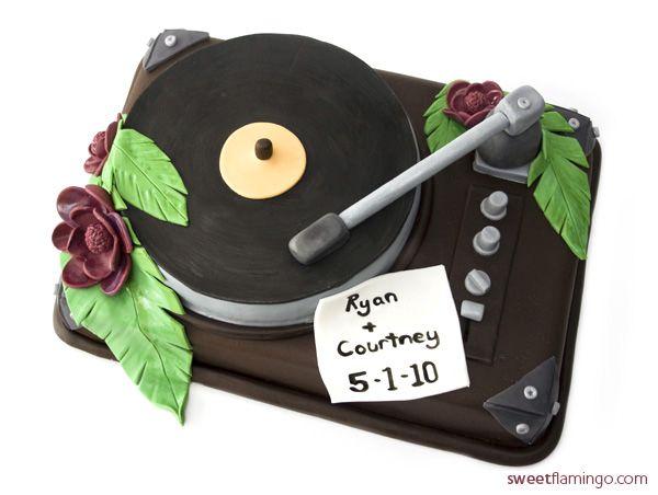 Rockin Grooms Cake! | Sweet Flamingo Cake Co.  www.sweetflamingo.com