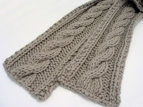 Guys Easy Cable Knit Scarf Pattern Maybe When I Get More Experience