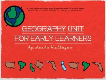 Geography Unit for Early Childhood or Special Education {fun games, printables, flashcards, and an adapted book to help your students learn about geography}