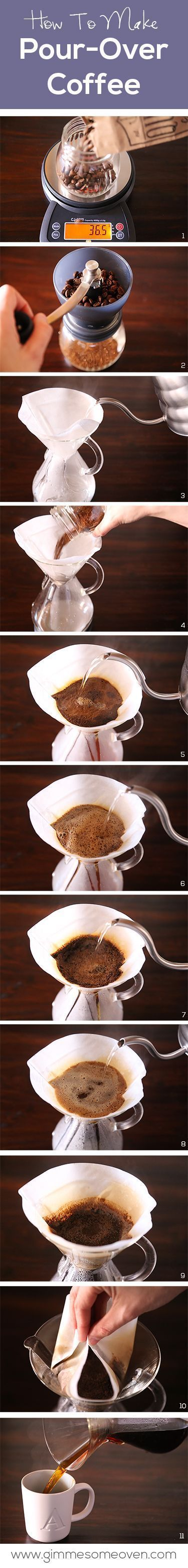 How To Make Pour-Over Coffee - Coffee Grinder - Ideas of Coffee Grinder #CoffeeGrinder…