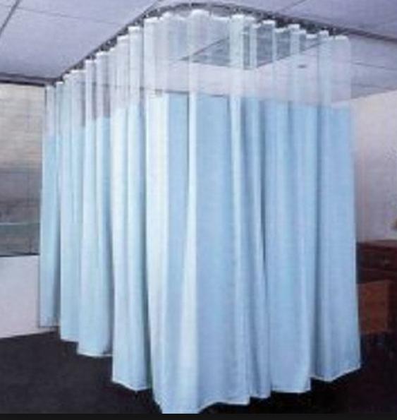 cortinas antibacterianas con rieles hechas a medida para