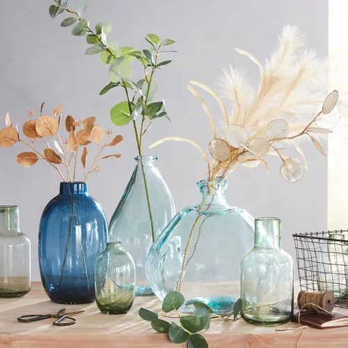 Thrown Recycled Glass Bottle Vases In 2020 Recycled Glass
