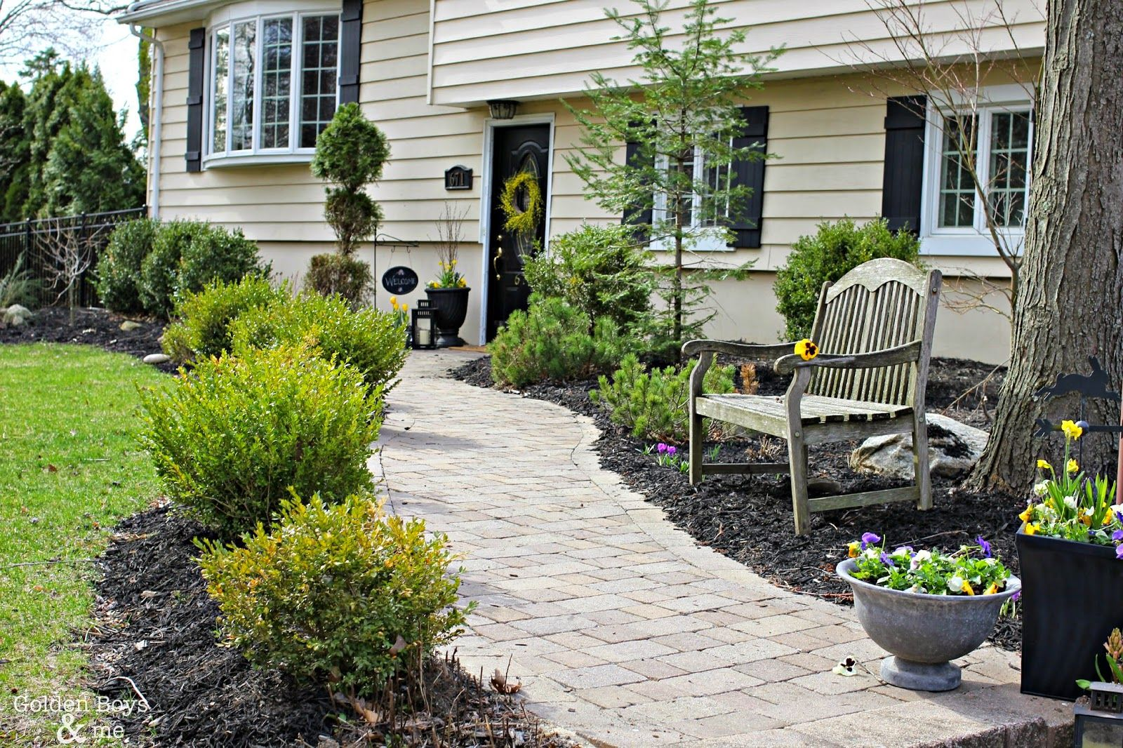 Adding Curb Appeal With New Shutters Home Landscaping Curb
