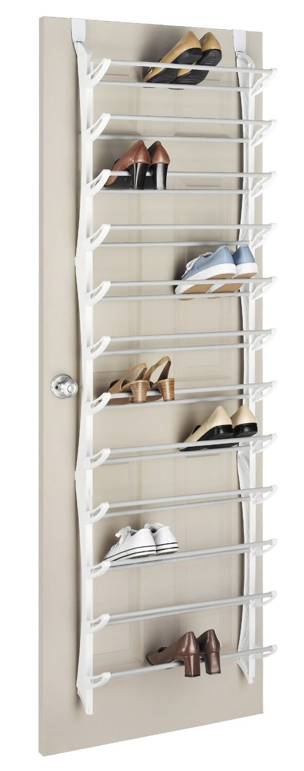 Fashion Canvas Soft Storage Over The Door Shoe Organizer Home Organization Products Whitmor 24 00