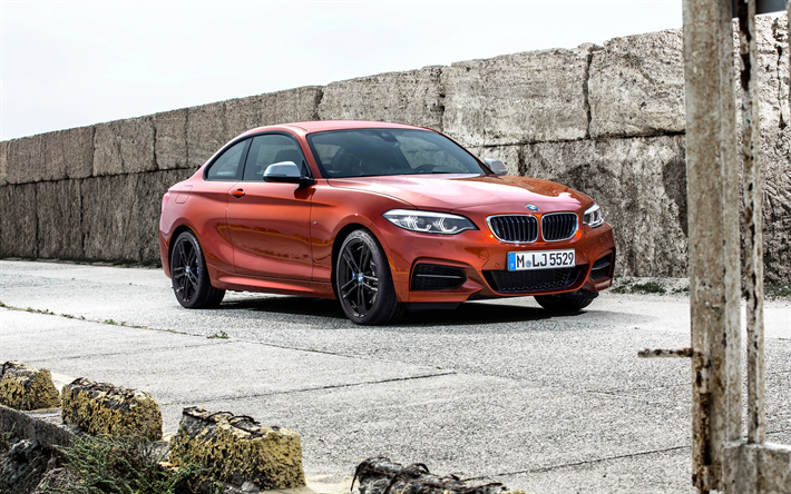 Download Wallpapers 4k Bmw M240i Coupe 2018 Cars Bmw M2 German