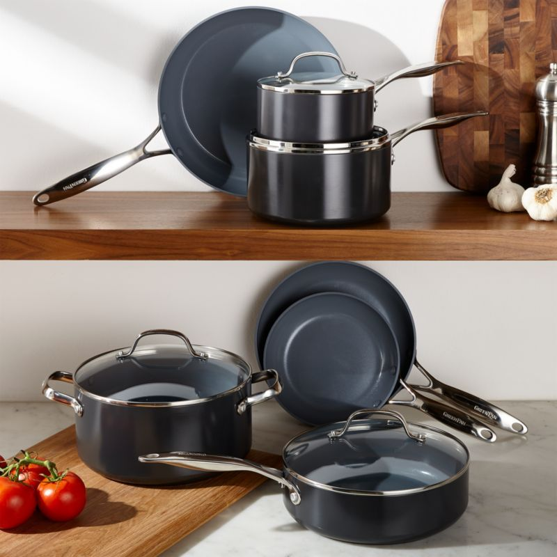 Green Pan Valencia Pro Nonstick 11 Piece Cookware Set Crate And